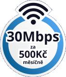 Internet 30Mbps - 500Kč / měsíčně